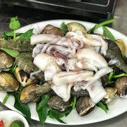 Đĩa hải sản tươi cực kì