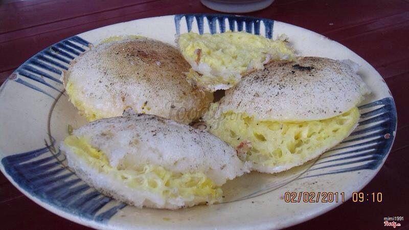 bánh căn trứng gà