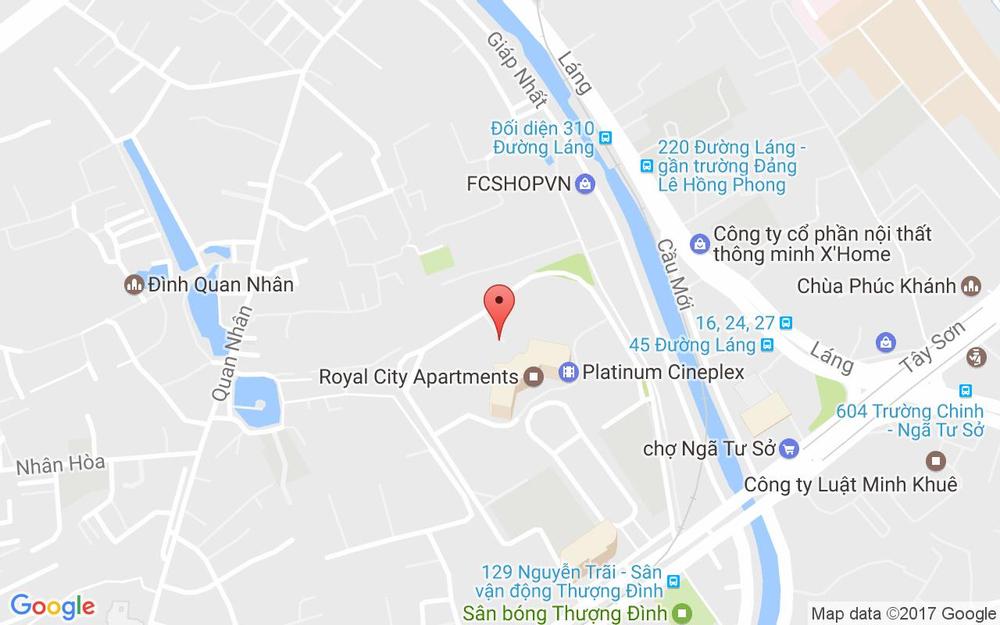 Vị trí bản đồ Tầng B2, Royal City, 72A Nguyễn Trãi Quận Thanh Xuân Hà Nội