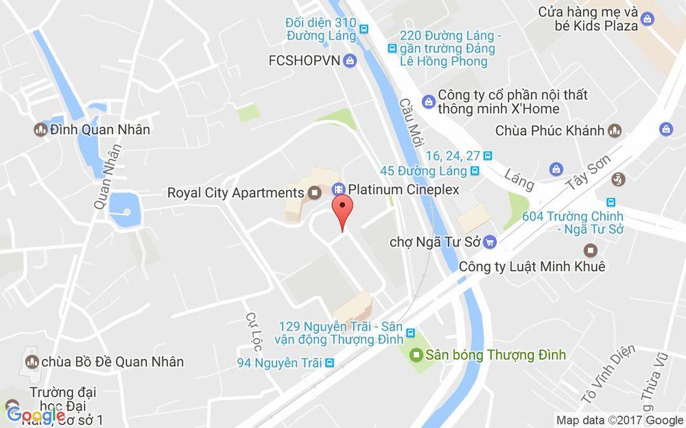 Vị trí bản đồ Royal City, 72A Nguyễn Trãi Quận Thanh Xuân Hà Nội