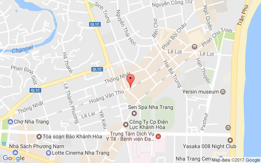 Vị trí bản đồ 91 Hoàng Văn Thụ Tp. Nha Trang Khánh Hoà