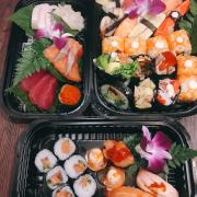 sashimi A tươi ngon sushi set nhiều set sushi ca hồi 5 vị ăn bao ngon