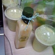 Sinh tố cam nha đam + sinh tố bơ sầu riêng