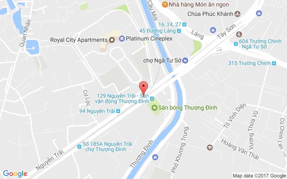 Vị trí bản đồ Tầng B2 R6 31, Royal City, 72A Nguyễn Trãi Quận Thanh Xuân Hà Nội