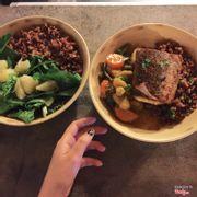 cơm cá bớp và tôm kho