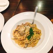 Beef & mushroom spagetti