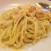 Garlic prawn spagetti