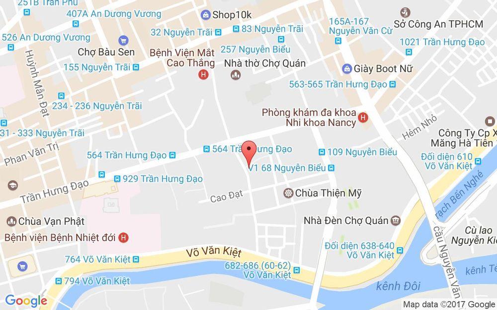 Vị trí bản đồ 84 Trần Bình Trọng Quận 5 TP. HCM