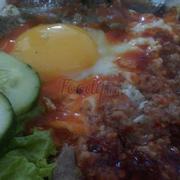 Opla trứng với pate 12k