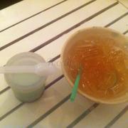 trà tranh + yaourt trà xanh
