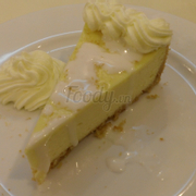 Slice of Classic Coconut Cheesecake