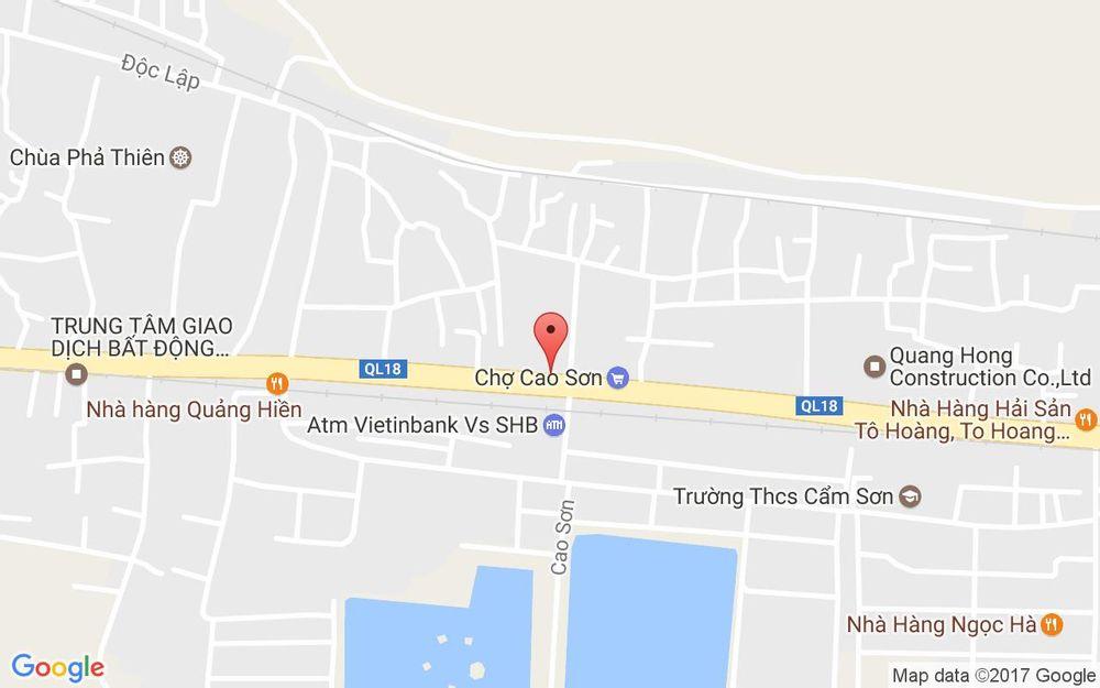 Vị trí bản đồ Hoàng Quốc Việt, P. Cẩm Sơn Tp. Cẩm Phả Quảng Ninh