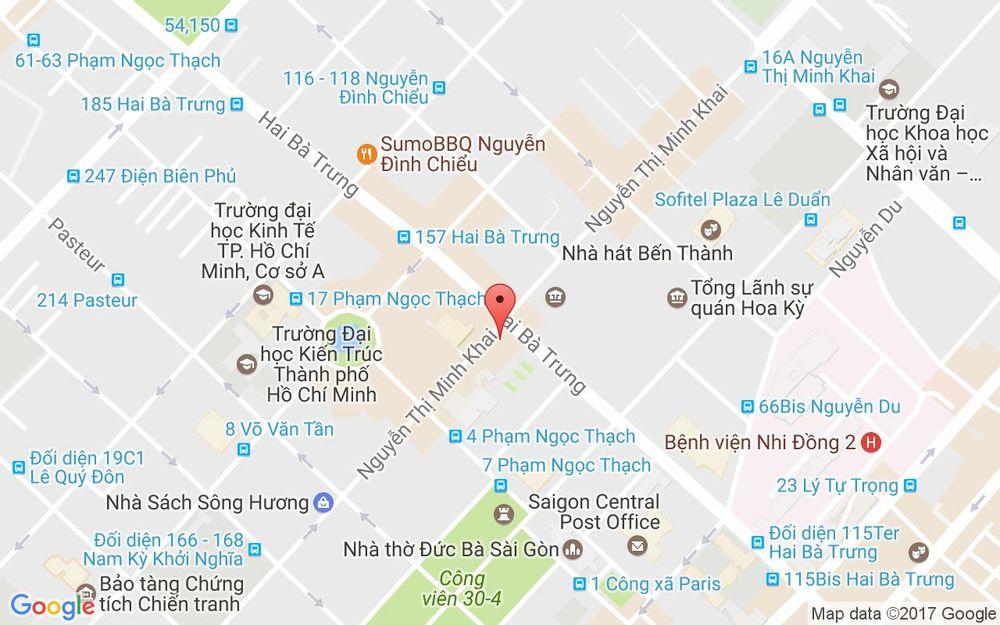 Vị trí bản đồ 33 Nguyễn Thị Minh Khai. P. Bến Nghé Quận 1 TP. HCM