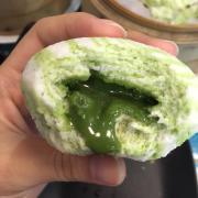 bánh bao trà xanh, vị trà xanh dở với bánh khô