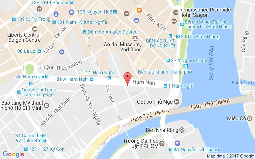 Vị trí bản đồ 77B Hàm Nghi Quận 1 TP. HCM