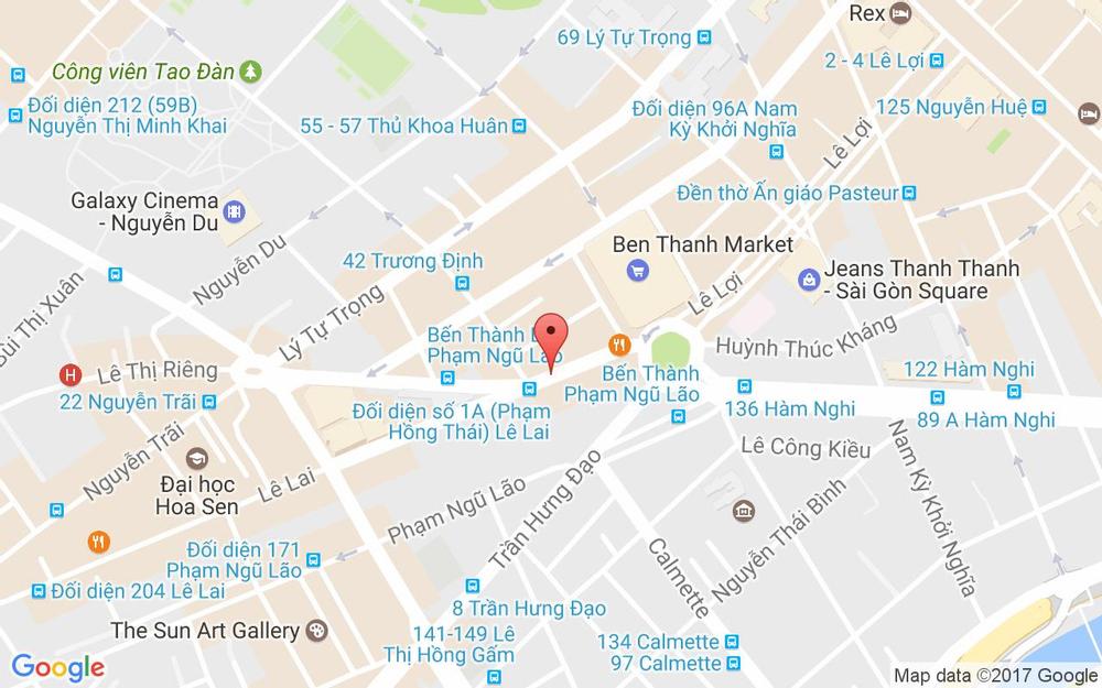 Vị trí bản đồ 44 Lê Lai Quận 1 TP. HCM