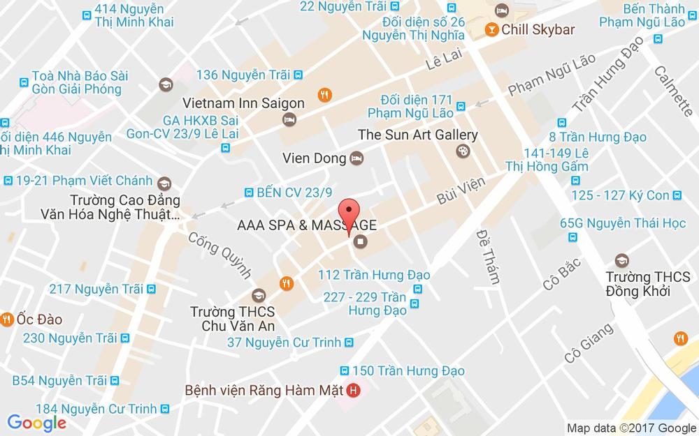 Vị trí bản đồ 9 Công Trường Lam Sơn Quận 1 TP. HCM