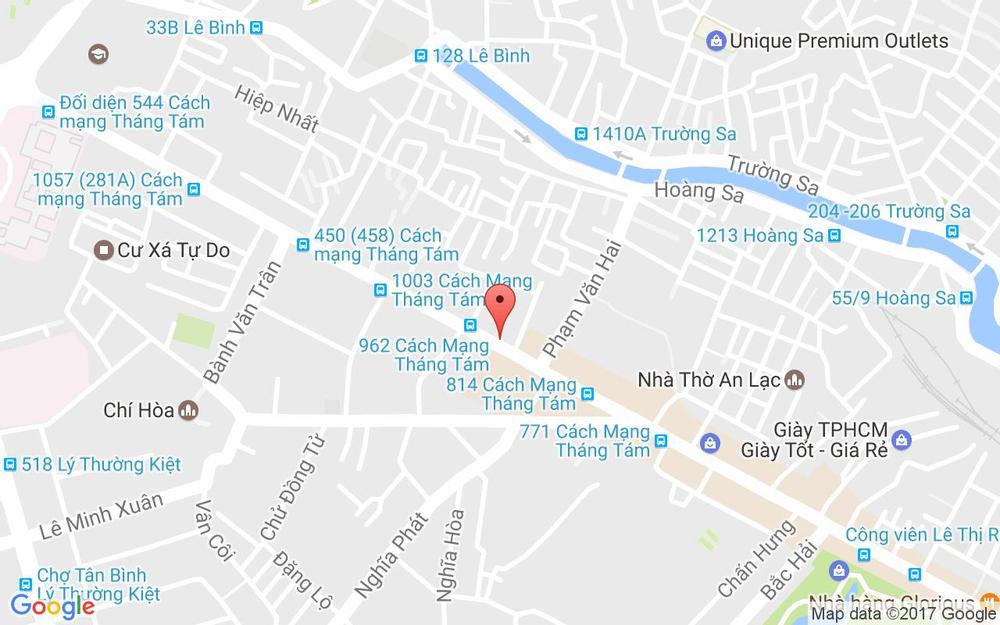 Vị trí bản đồ 875 Cách Mạng Tháng 8 Quận Tân Bình TP. HCM