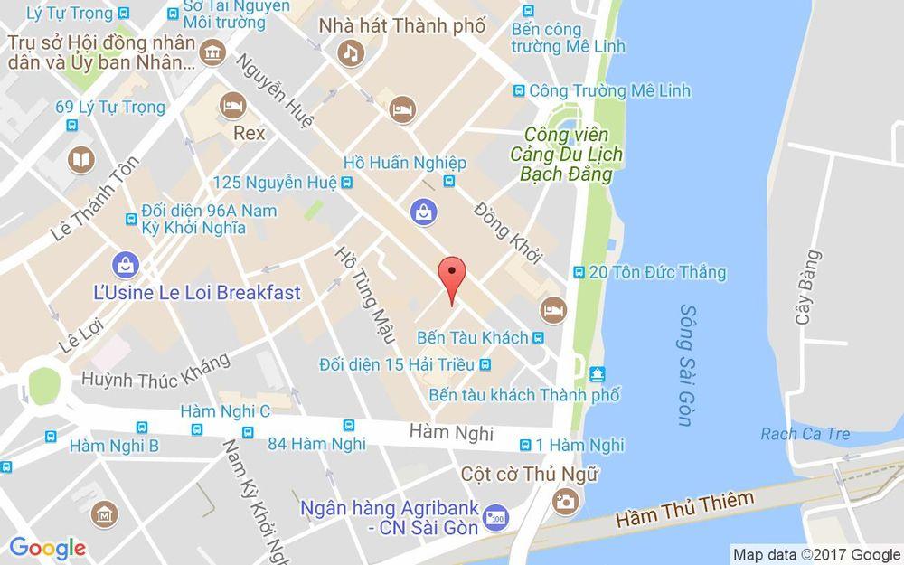 Vị trí bản đồ 42 Ngô Đức Kế Quận 1 TP. HCM