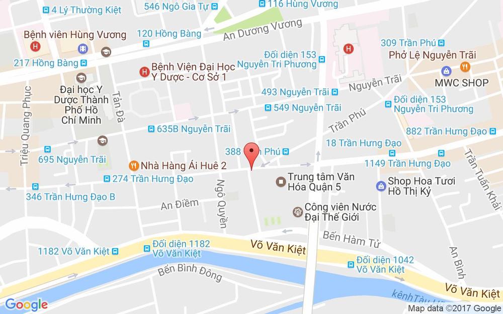 Vị trí bản đồ 161 Nguyễn Thái Học  Quận 1 TP. HCM