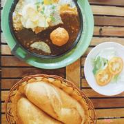 Bánh mì chảo pate trứng xíu mại 35k