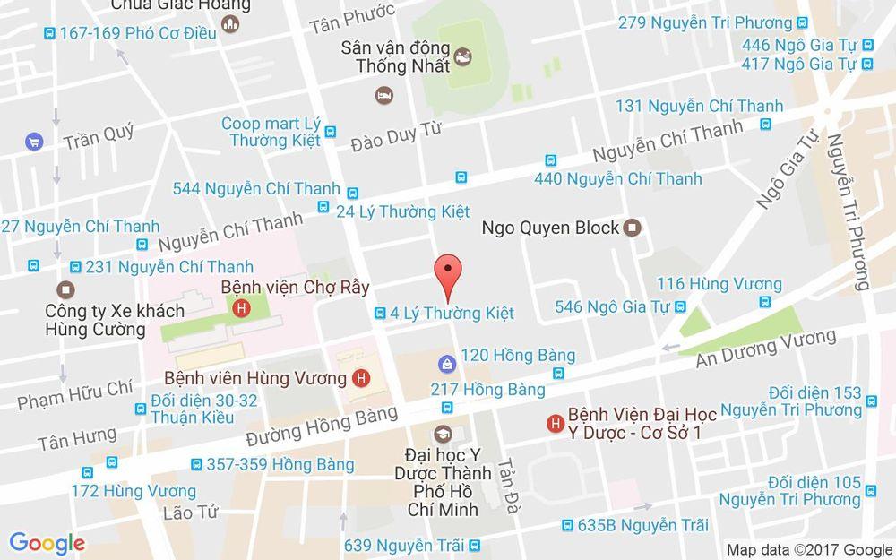 Vị trí bản đồ 9 Nguyễn Kim, P. 12 Quận 5 TP. HCM