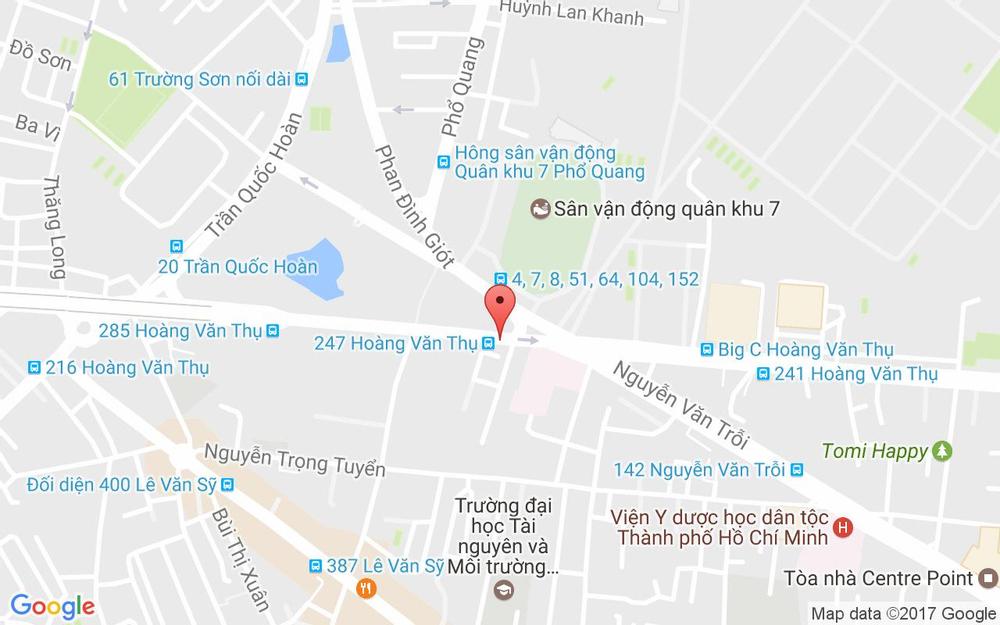 Vị trí bản đồ 413 Hoàng Văn Thụ Quận Tân Bình TP. HCM