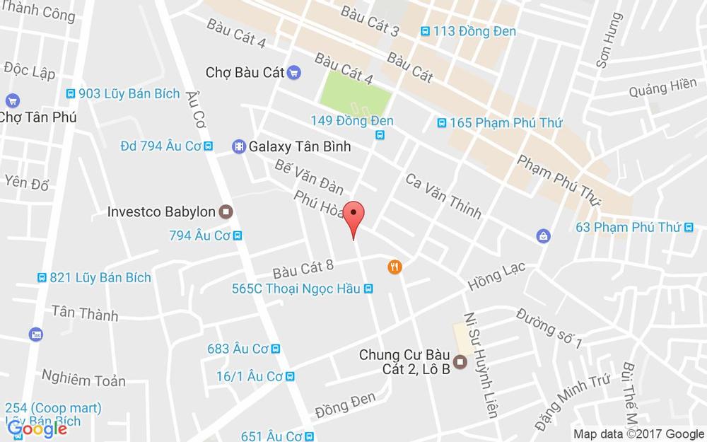 Vị trí bản đồ 190 Đồng Đen, P. 14 Quận Tân Bình TP. HCM