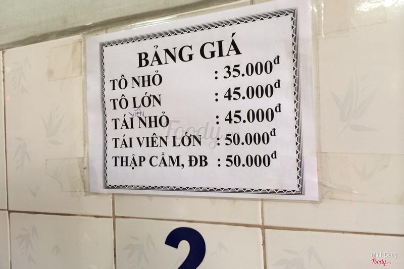 Giá và menu
