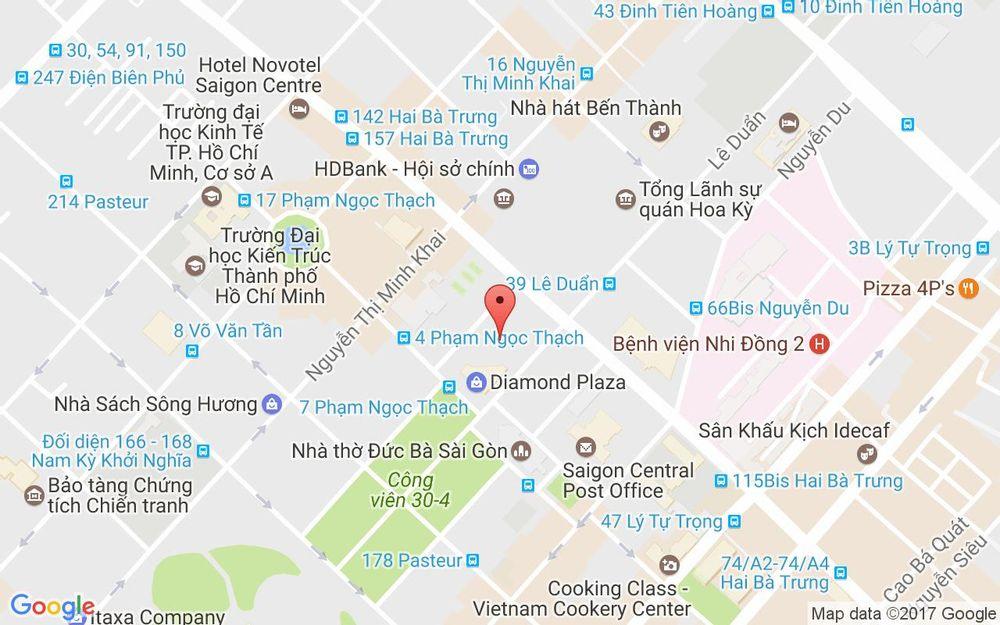 Vị trí bản đồ Tầng 13 Diamond Plaza, 34 Lê Duẩn Quận 1 TP. HCM