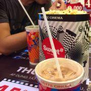 Salty-Sweet Popcorn w/ Coke & Peach Milk Tea