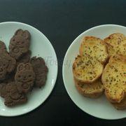 Chocolate Cookies & Garlic Bread