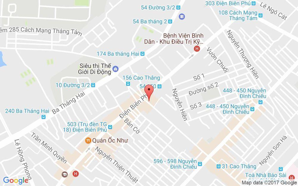 Vị trí bản đồ 130 Cao Thắng, P. 4 Quận 3 TP. HCM