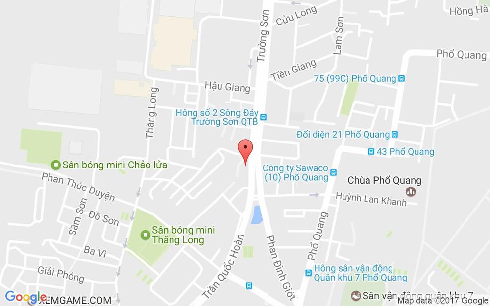 Vị trí bản đồ 85 Trần Quốc Hoàn, P. 4 Quận Tân Bình TP. HCM