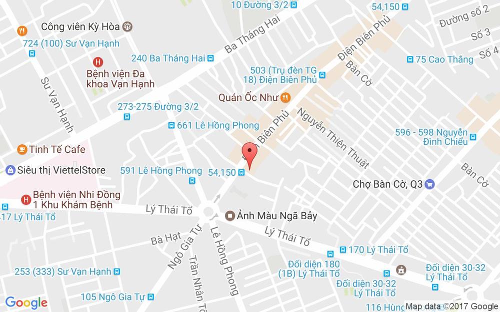 Vị trí bản đồ 643 Điện Biên Phủ Quận 3 TP. HCM