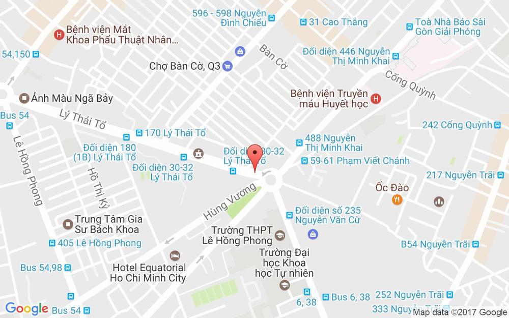 Vị trí bản đồ 14 Lý Thái Tổ, P. 2 Quận 3 TP. HCM