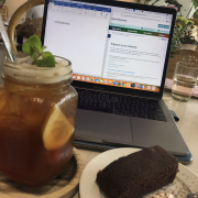 Sweet tea and Brownie