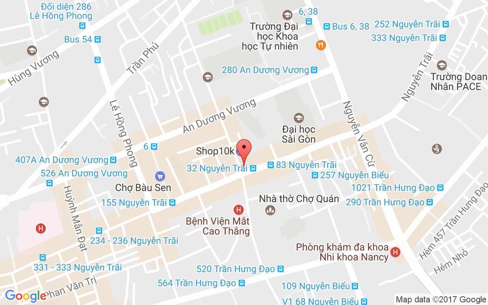 Vị trí bản đồ 44 Nguyễn Trãi, P. 3 Quận 5 TP. HCM