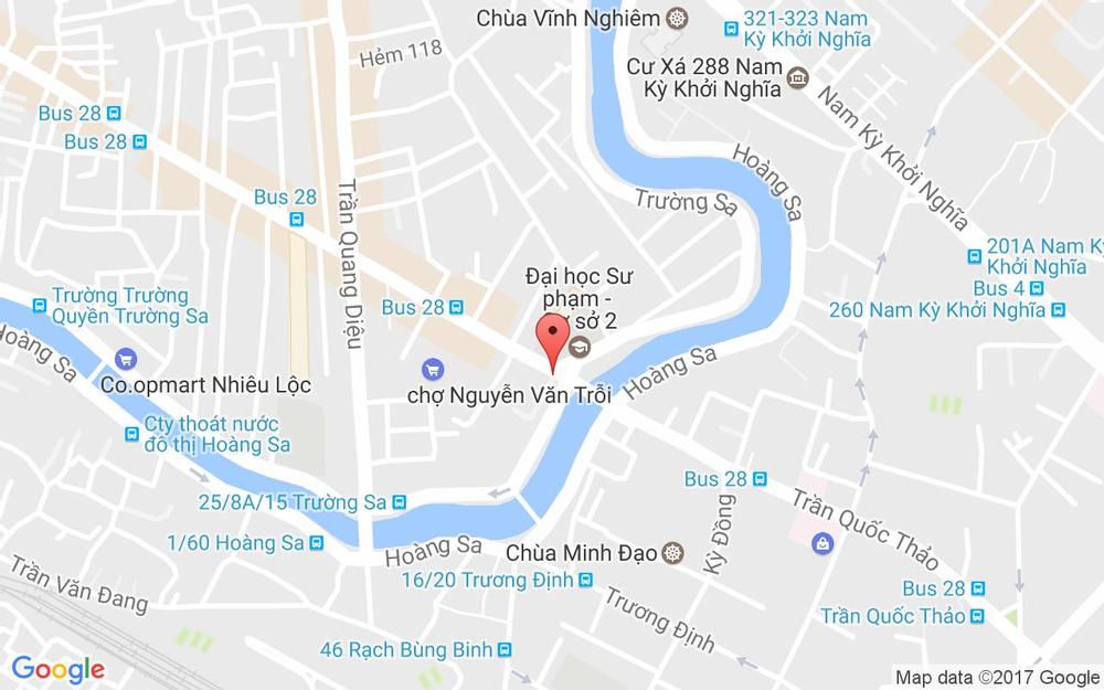 Vị trí bản đồ 197/2 Lê Văn Sỹ, P. 13 Quận 3 TP. HCM
