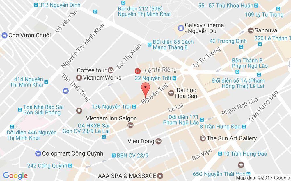 Vị trí bản đồ 89A Nguyễn Trãi, P. Bến Thành Quận 1 TP. HCM
