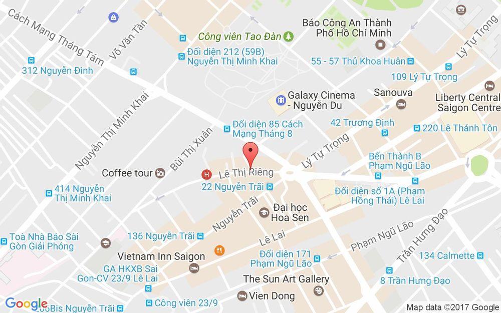 Vị trí bản đồ 40 Lê Thị Riêng Quận 1 TP. HCM