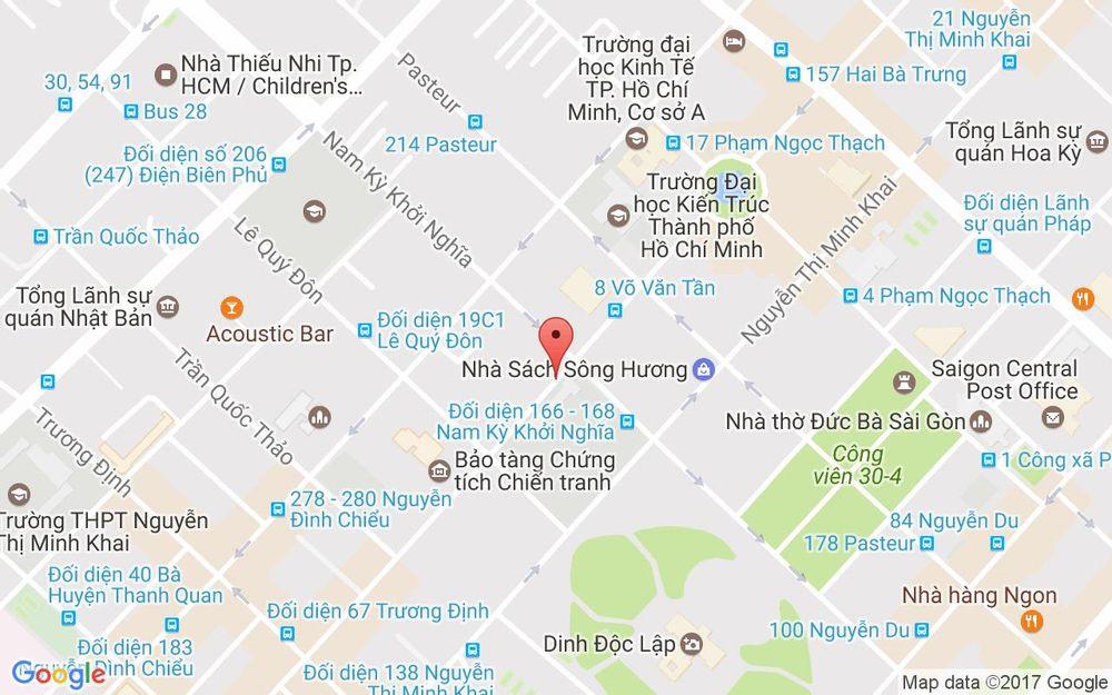 Vị trí bản đồ Lầu 7 14 Võ Văn Tần Quận 3 TP. HCM