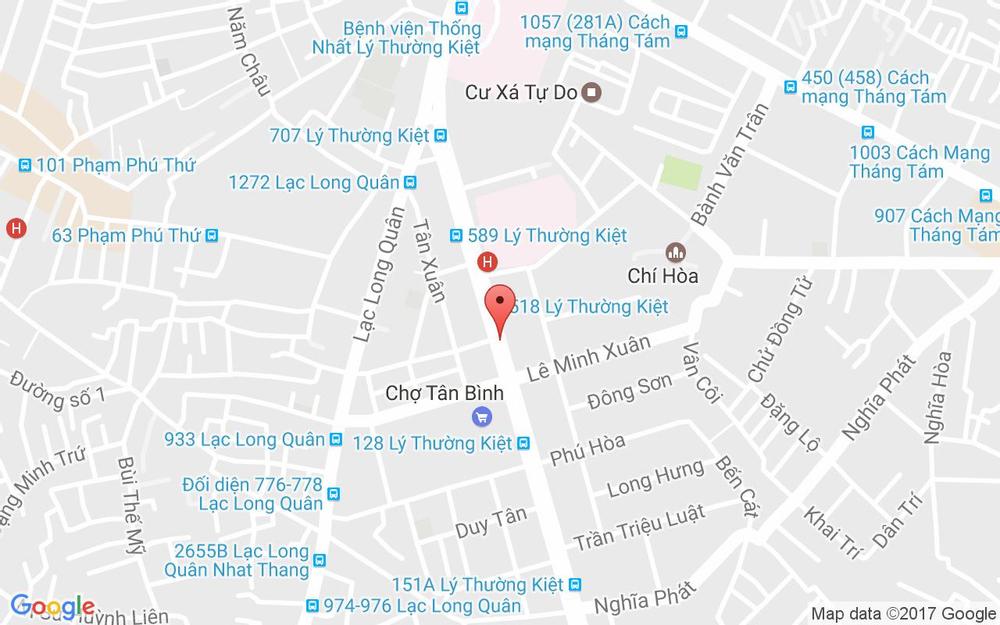 Vị trí bản đồ 512 Lý Thường Kiệt, P. 7 Quận Tân Bình TP. HCM