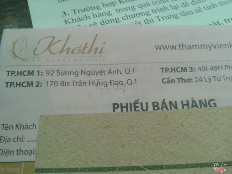 Khơ Thị Spa & Beauty ở TP. HCM