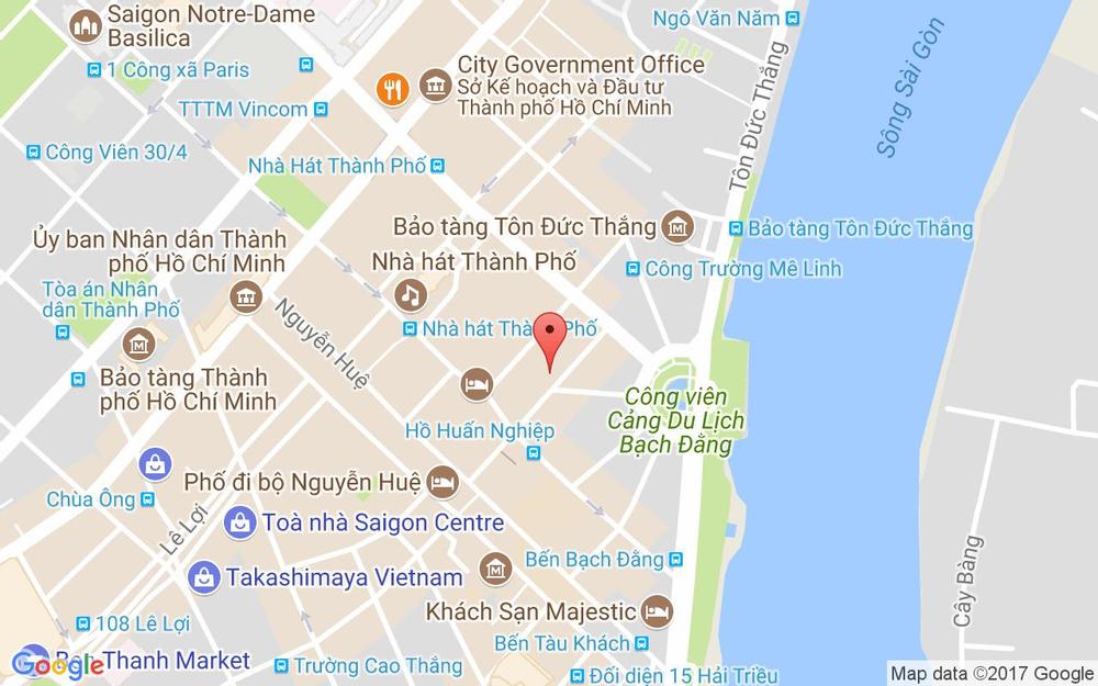 Vị trí bản đồ 40 Mạc Thị Bưởi, P. Bến Nghé Quận 1 TP. HCM