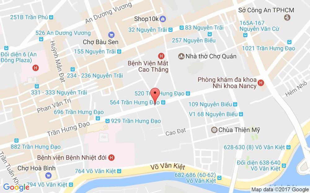 Vị trí bản đồ 835/15 Trần Hưng Đạo, P.1 Quận 5 TP. HCM