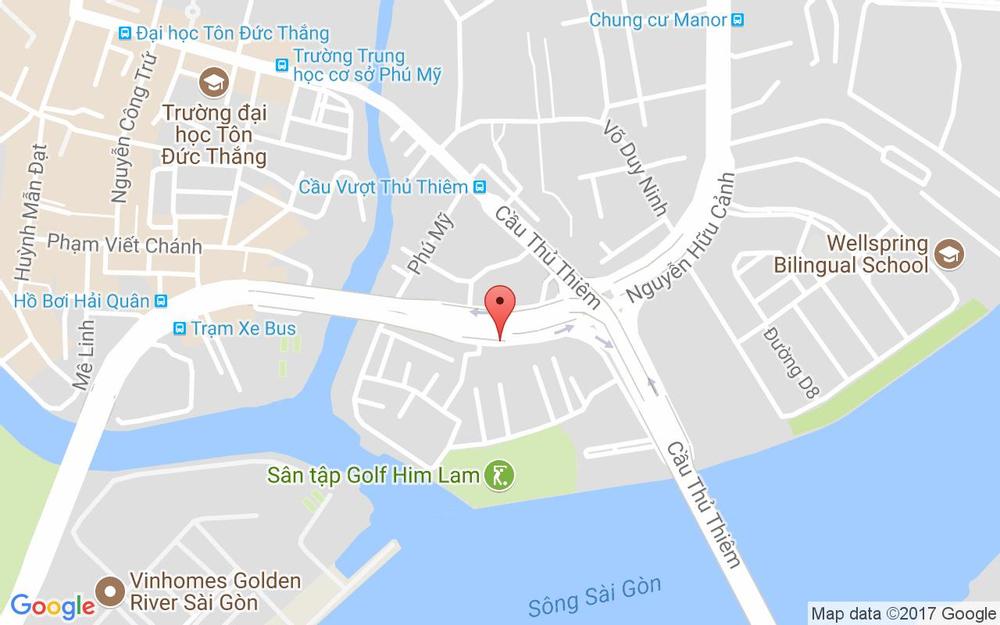Vị trí bản đồ 135/37 Nguyễn Hữu Cảnh, P. 22 Quận Bình Thạnh TP. HCM