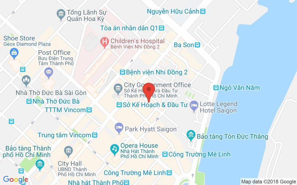 Vị trí bản đồ 15 Thái Văn Lung, P. Bến Nghé Quận 1 TP. HCM