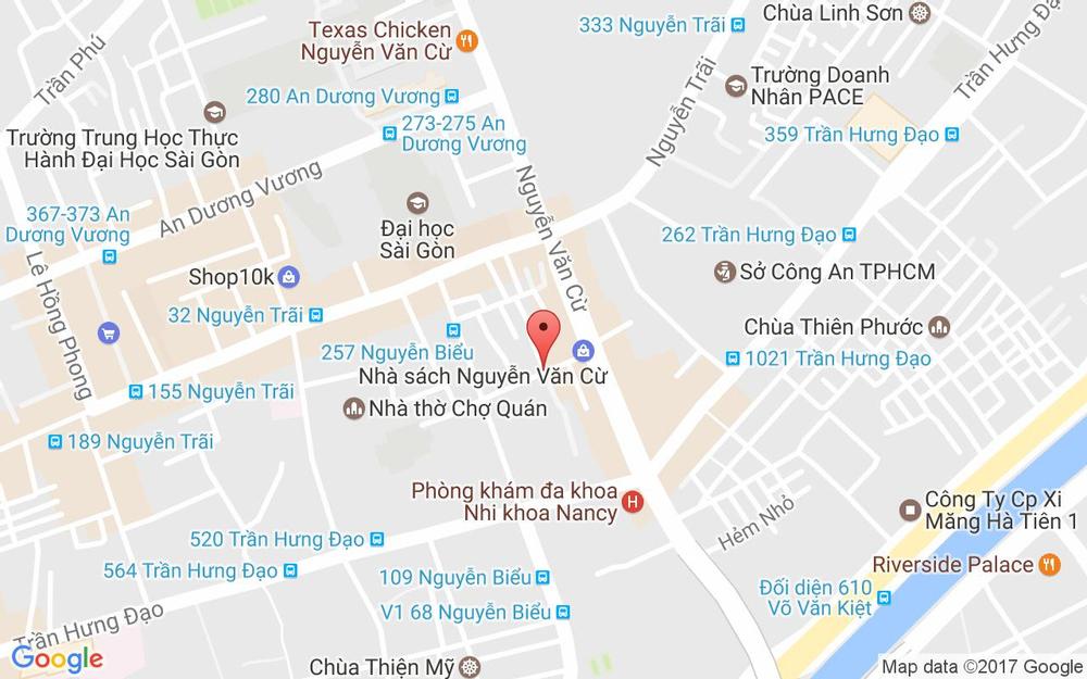 Vị trí bản đồ 31 - 33 Phan Văn Trị, P. 2 Quận 5 TP. HCM