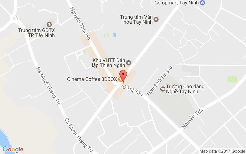 Vị trí bản đồ 1 Võ Thị Sáu Thành Phố Tây Ninh Tây Ninh